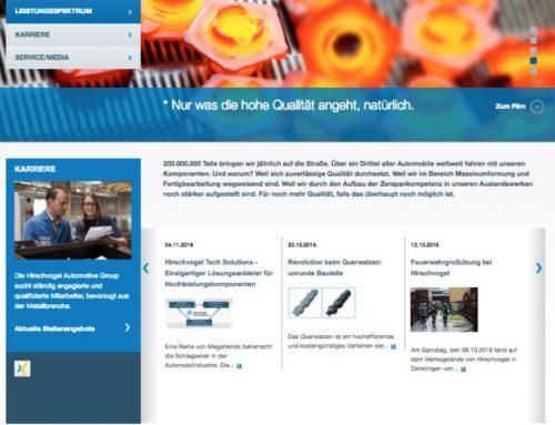 Hirschvogel Klassische Kommunikation/Media/Webseite